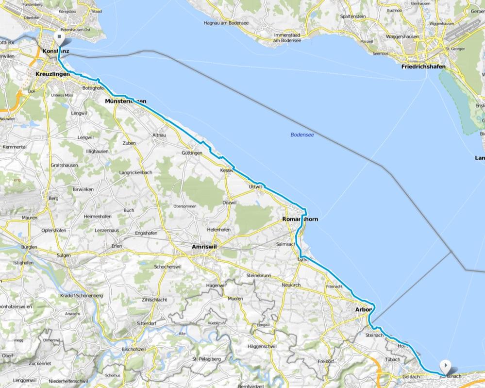 Karte Bodensee-Radweg Etappe 5
