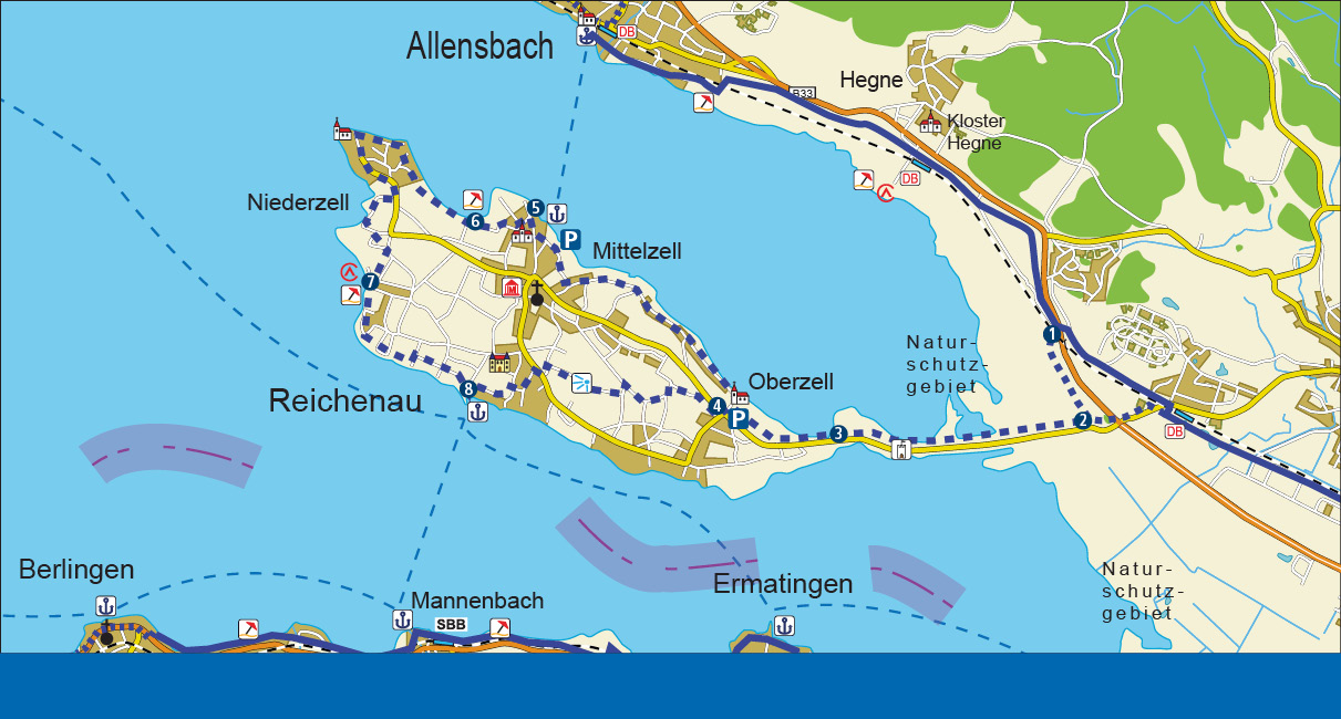 Insel Reichenau Karte.Zur Insel Reichenau Bodensee Radweg De