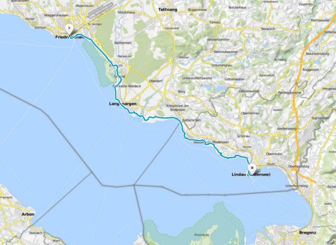 Bodensee Karte.Karte Von Etappe 3 Bodensee Radweg De