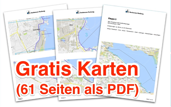 Bodensee Karte.Die Detail Karten Zum Ausdrucken Bodensee Radweg De