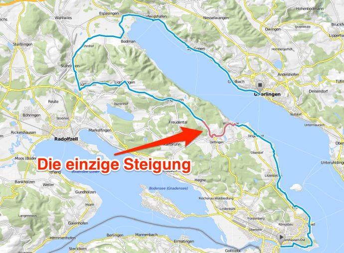 Bodensee Karte.Steigungen Am Bodensee Radweg Bodensee Radweg De